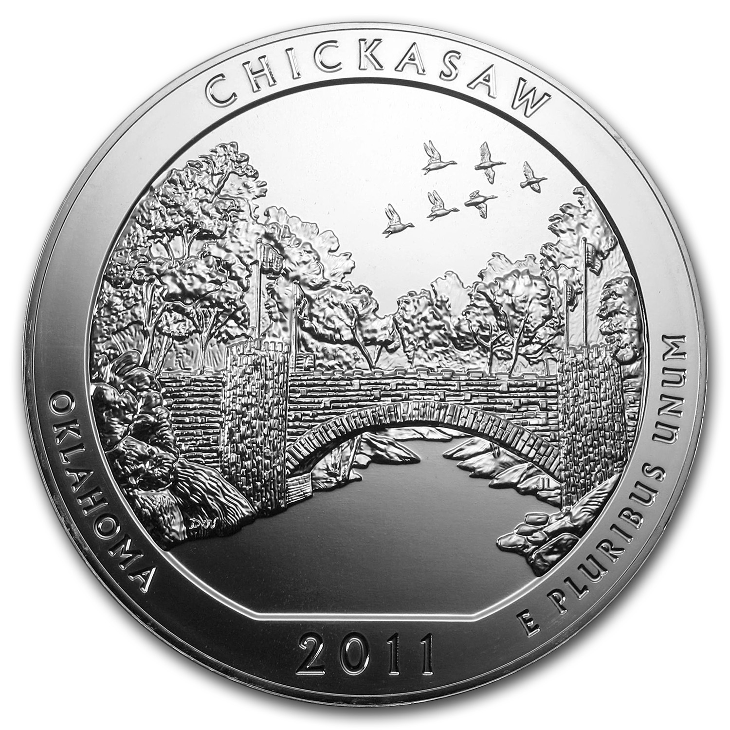2011 5 oz Silver ATB Chickasaw Rec. Area, OK (Sealed Monster Box)