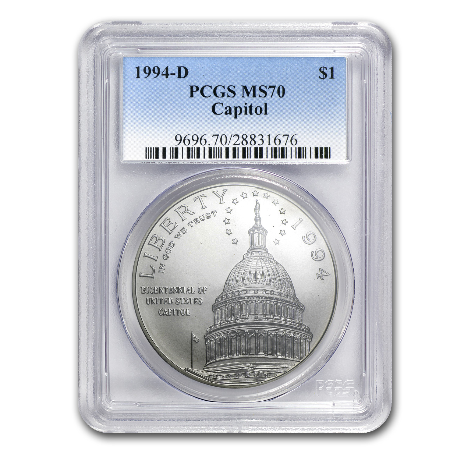 1994-D Capitol $1 Silver Commemorative MS-70 PCGS