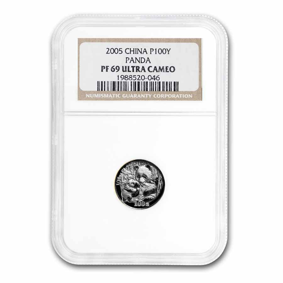 2005 China 1/10 oz Proof Platinum Panda PF-69 NGC