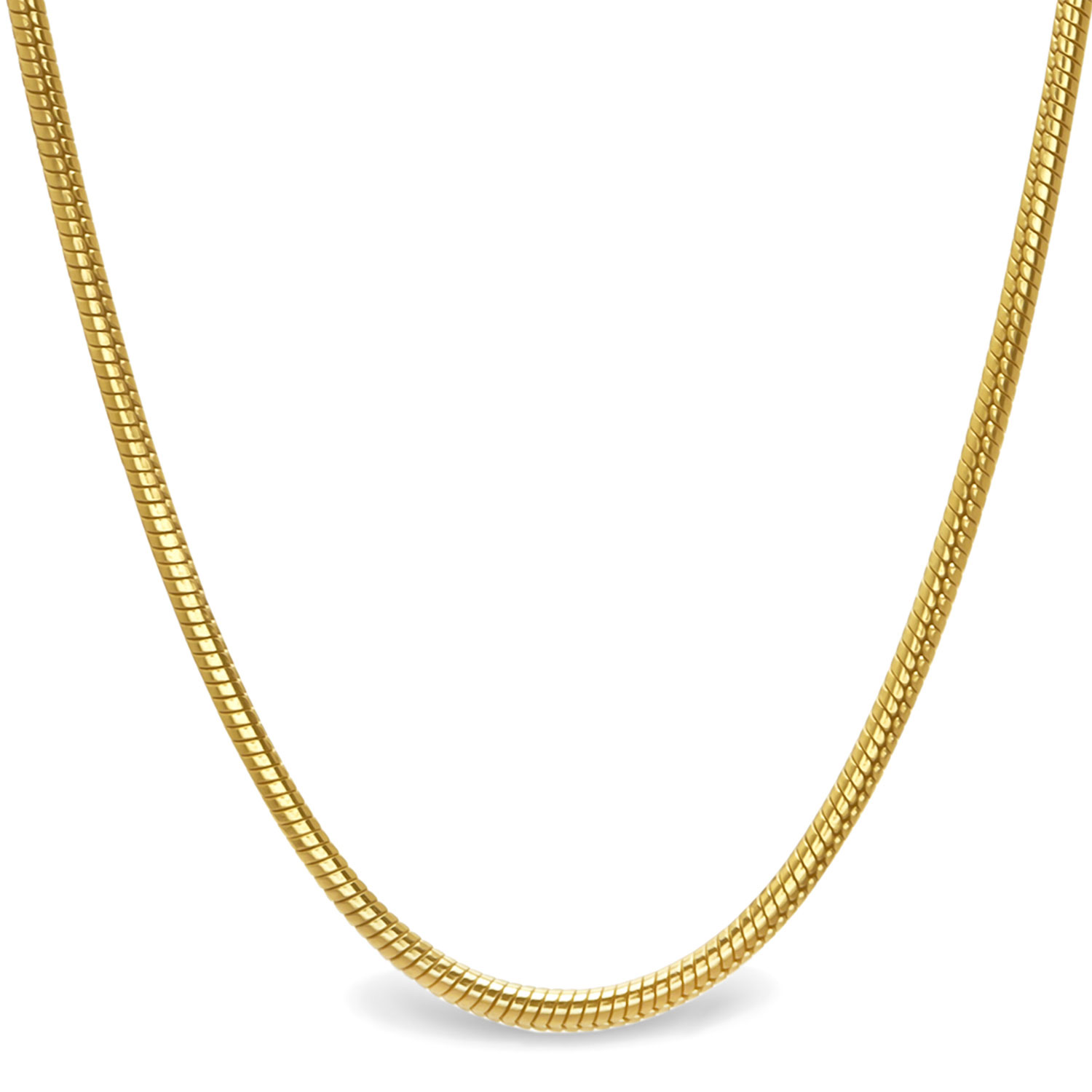 Classic Round Snake 14k Gold Necklace - 16 in.