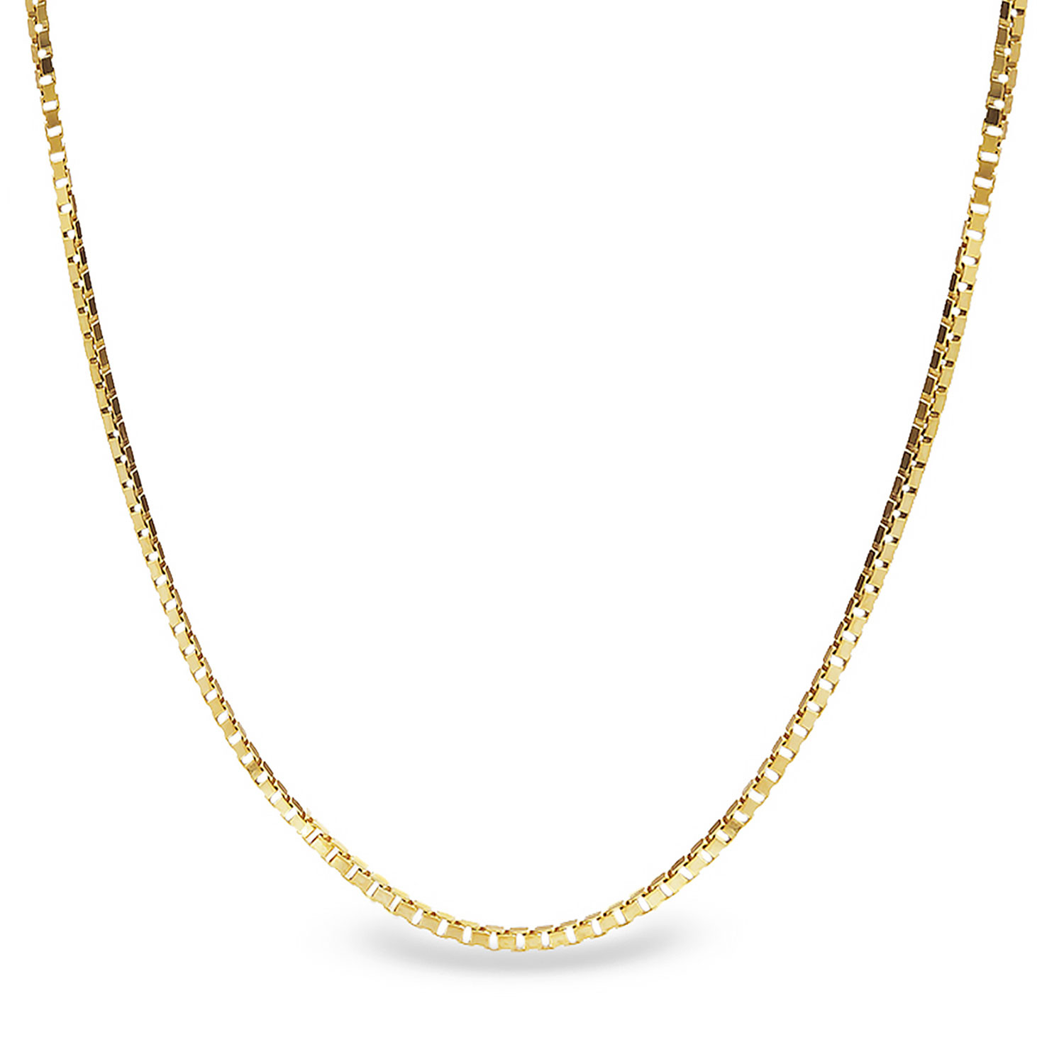 Box Chain 14k Gold Necklace - 16 in.