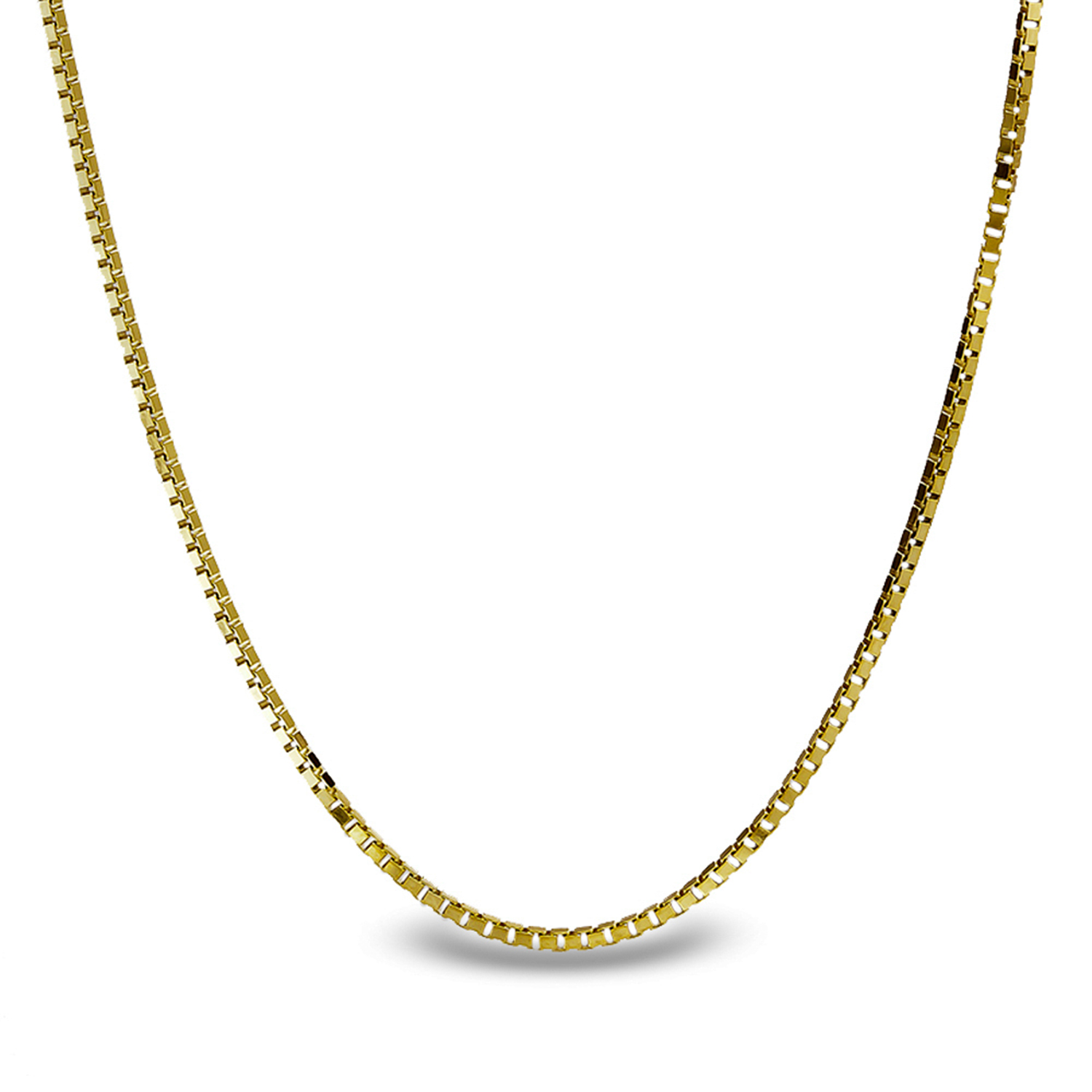 Box Chain 14k Gold Necklace - 18 in.