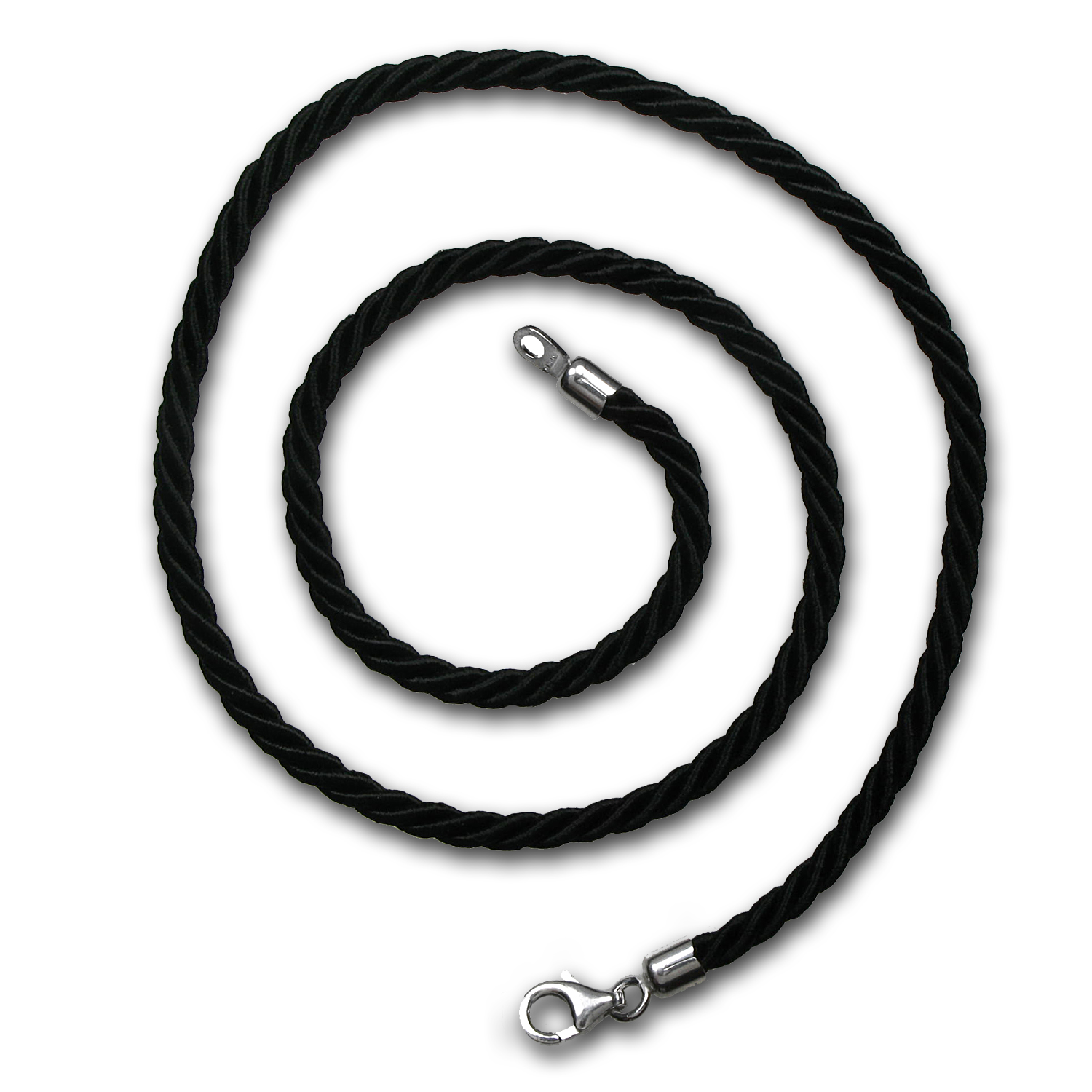 Black Satin Cord Necklace - 18 in.