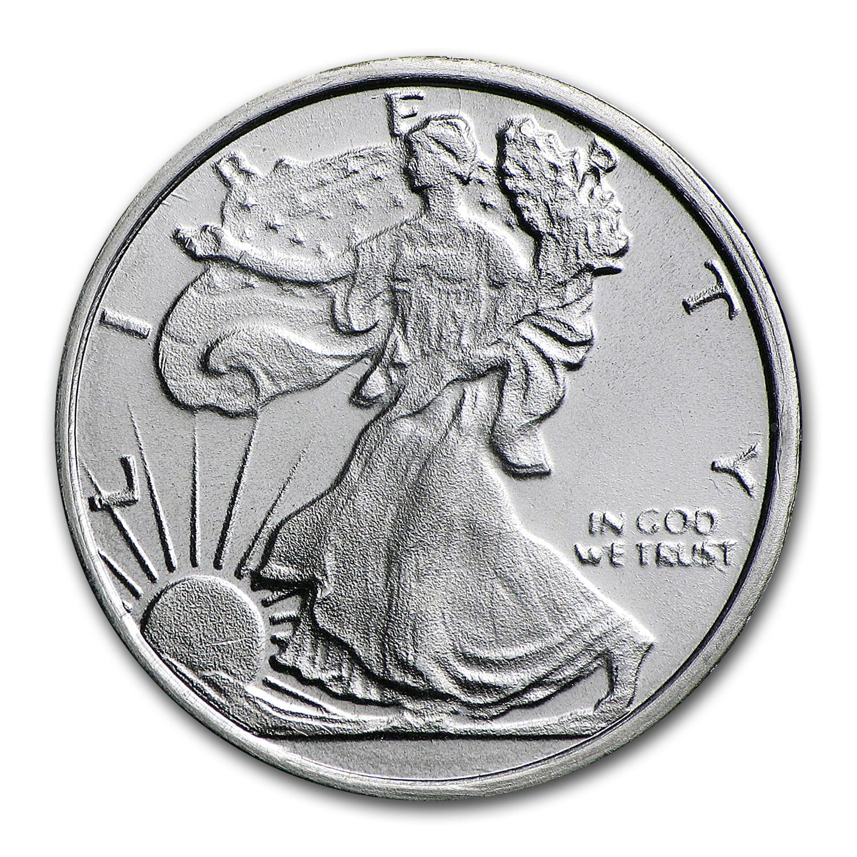 1 4 Oz Silver Round Walking Liberty Fractional Less