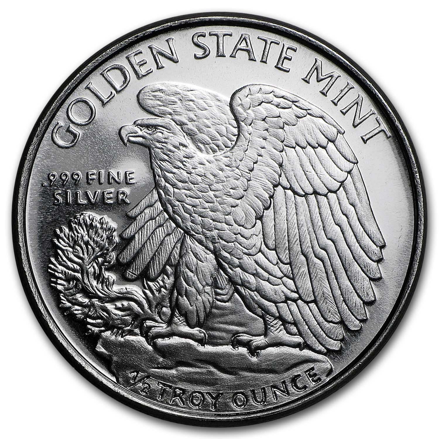 1/2 oz Silver Rounds - Walking Liberty