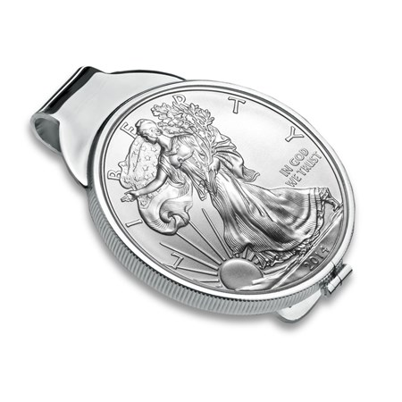 Sterling Silver Polished Coin Money Clip 40 6 Mm
