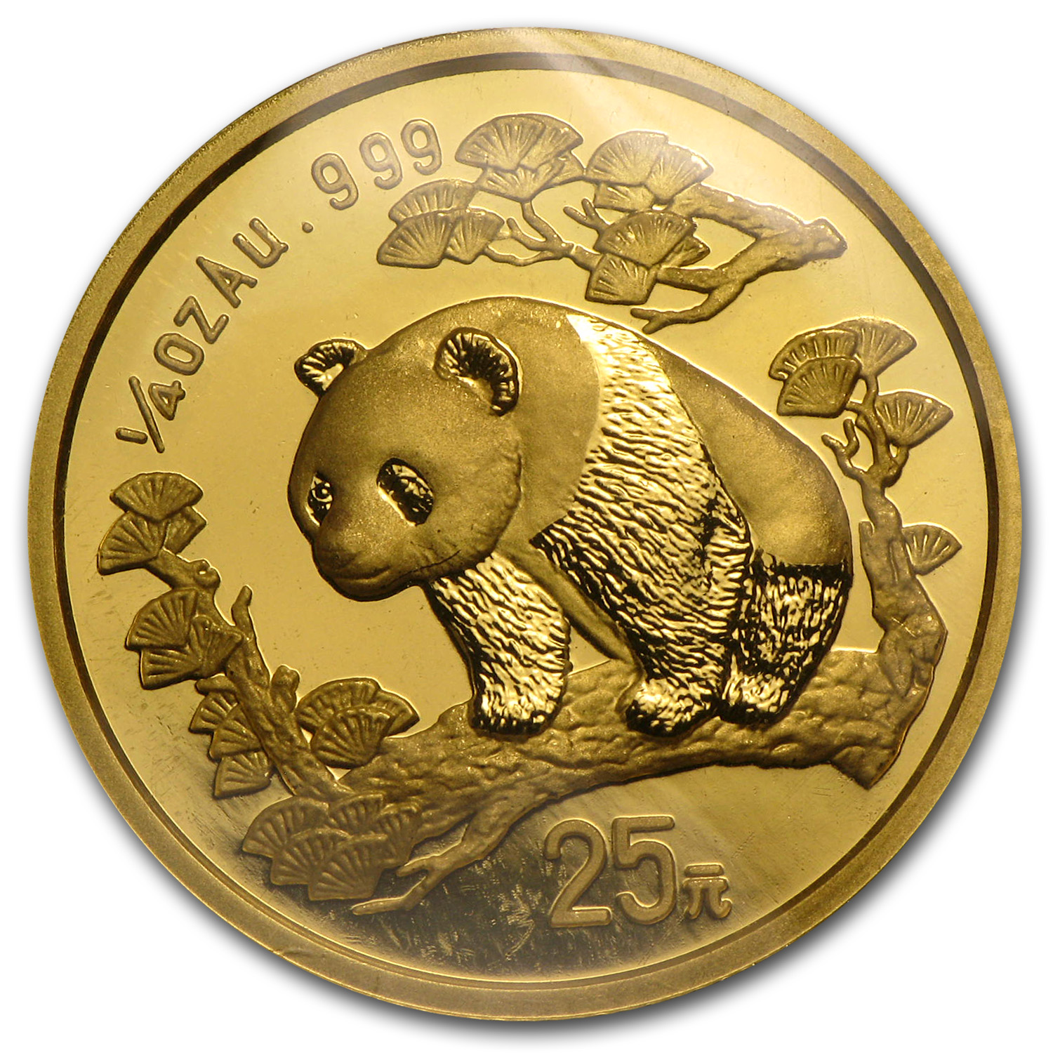 1997 China 1/4 oz Gold Panda Large Date BU (Sealed)