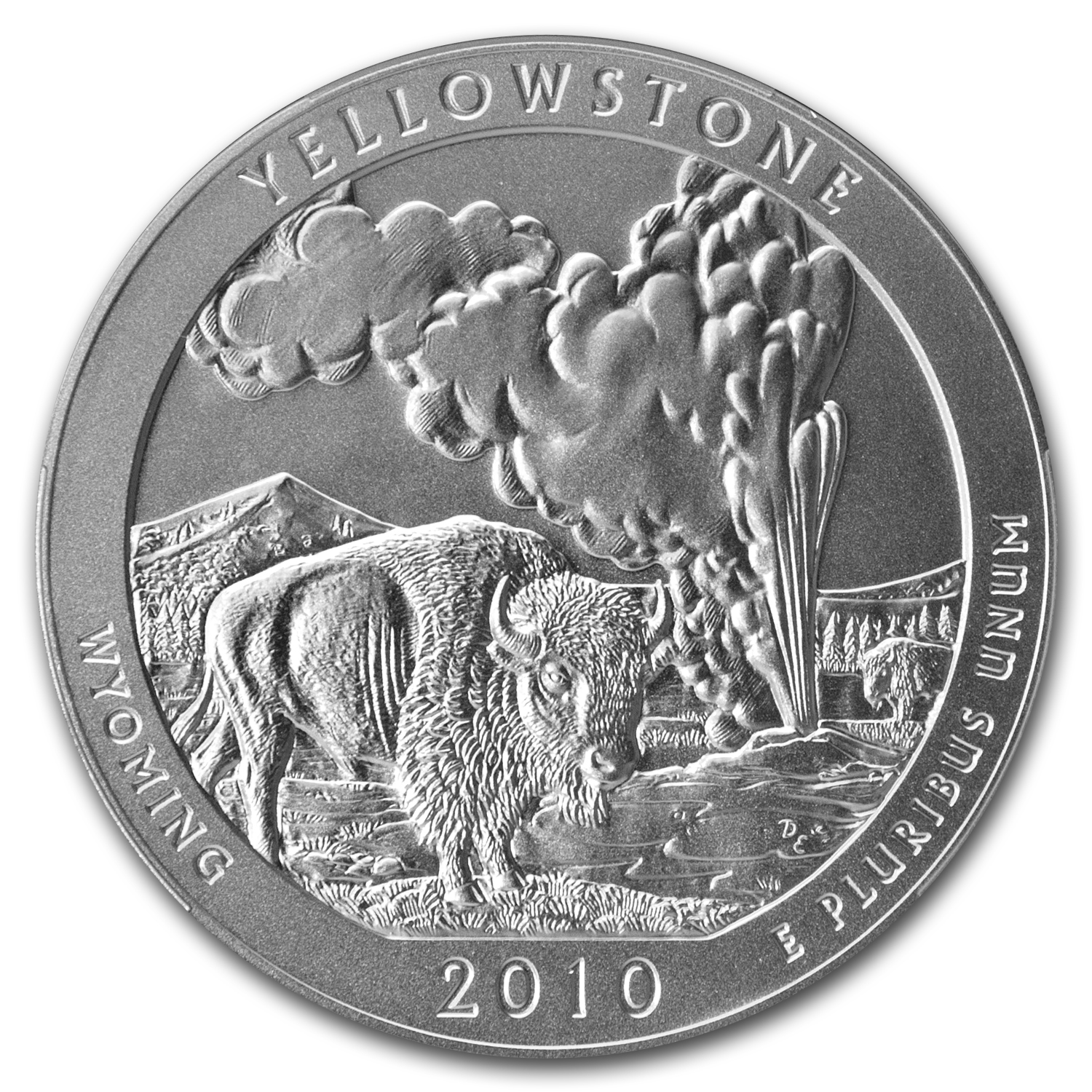 2010-P 5 oz Silver ATB Yellowstone NGC SP-70 Early Releases