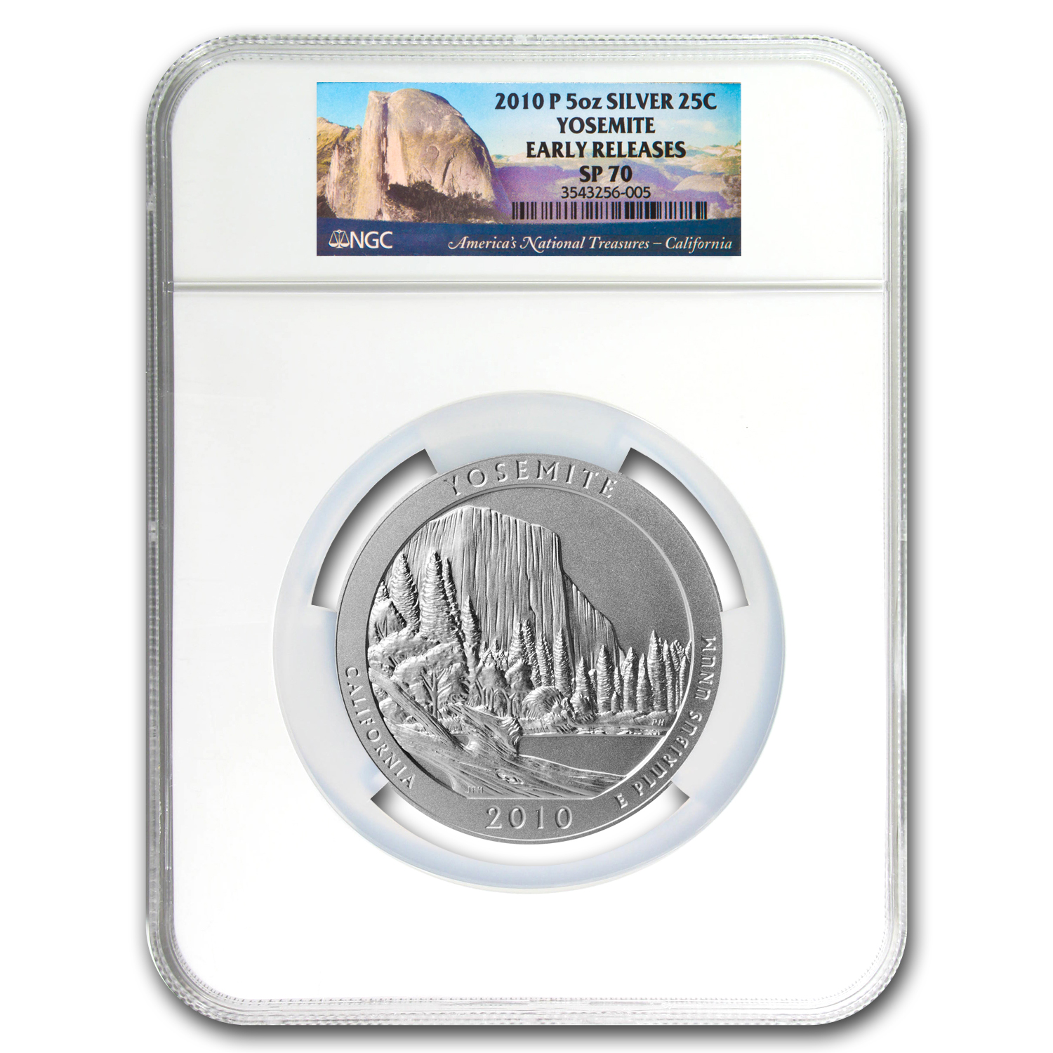 2010-P 5 oz Silver ATB Yosemite SP-70 NGC (Early Releases)