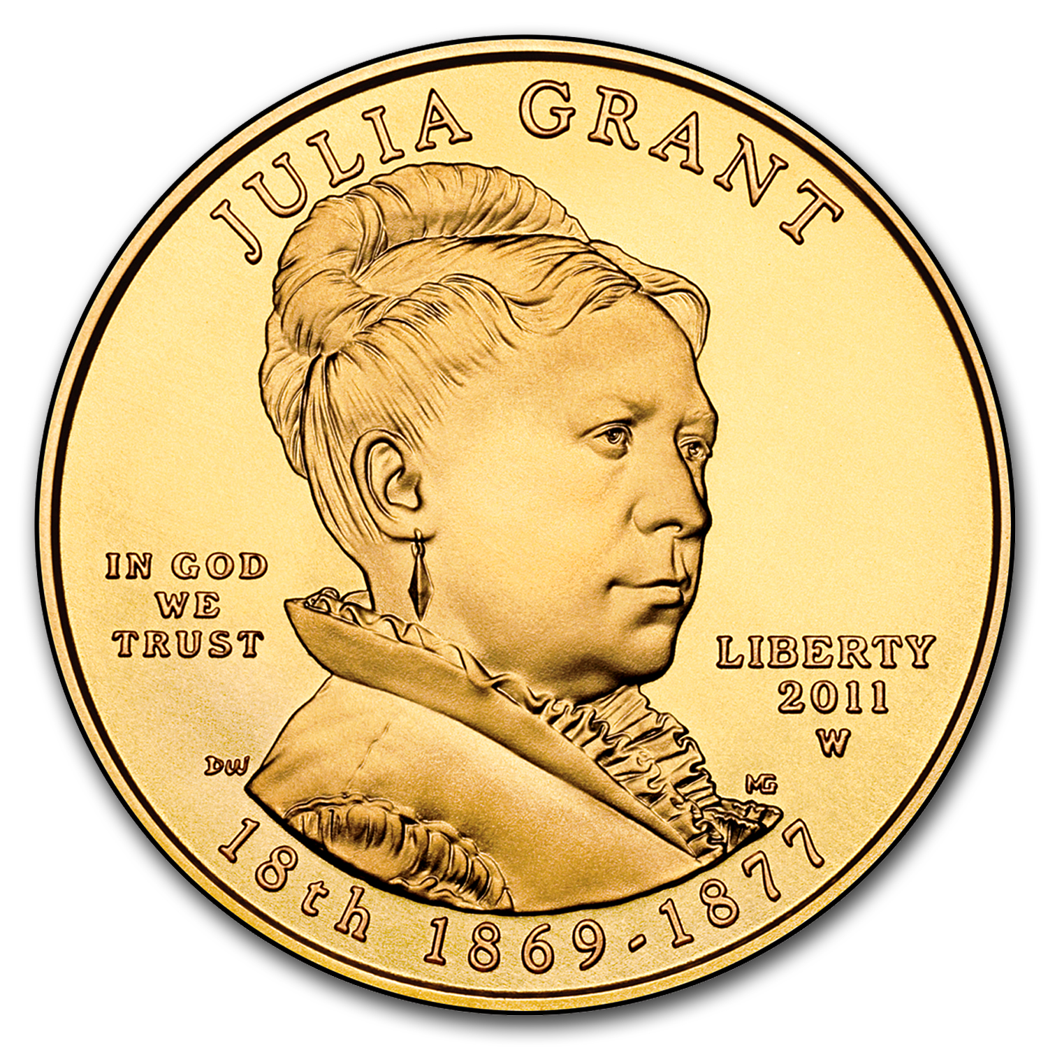 2011-W 1/2 oz Uncirculated Gold Julia Grant (w/Box & CoA)