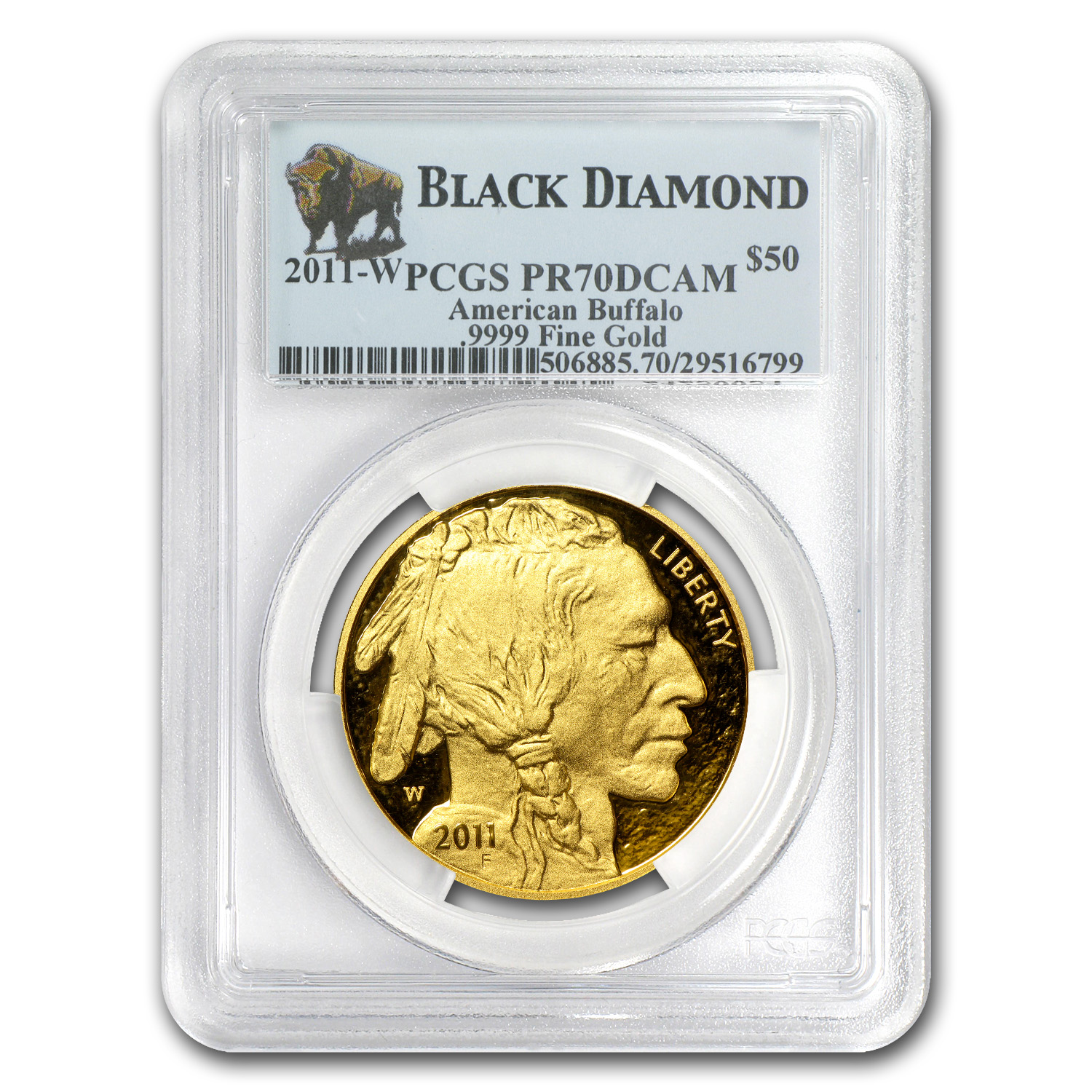 2011-W 1 oz Proof Gold Buffalo PR-70 PCGS (Black Diamond)