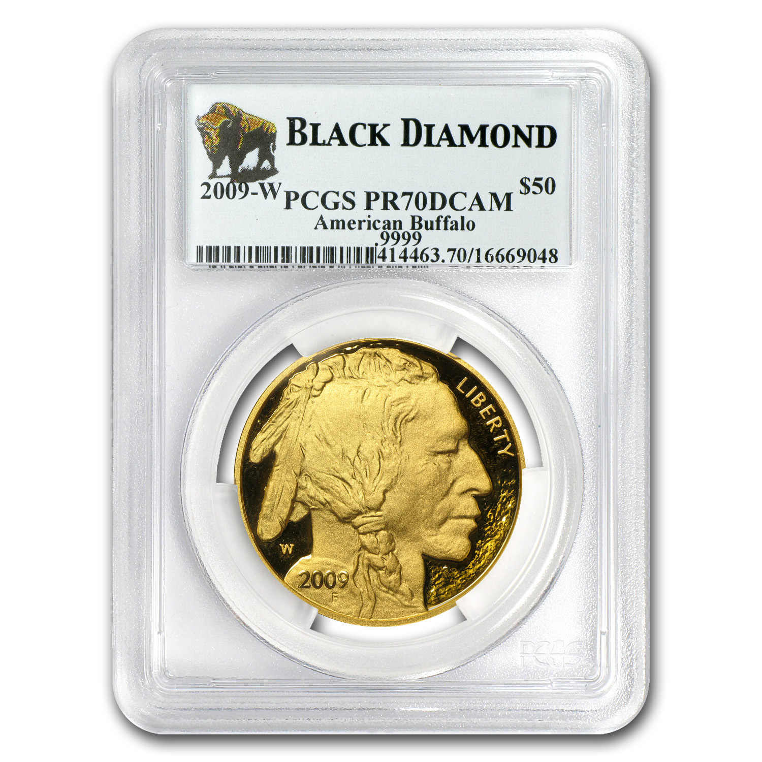 2009-W 1 oz Proof Gold Buffalo PR-70 PCGS (Black Diamond)