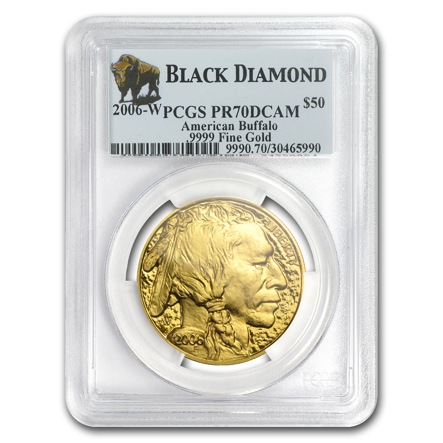2006-W 1 oz Proof Gold Buffalo PR-70 PCGS (Black Diamond)