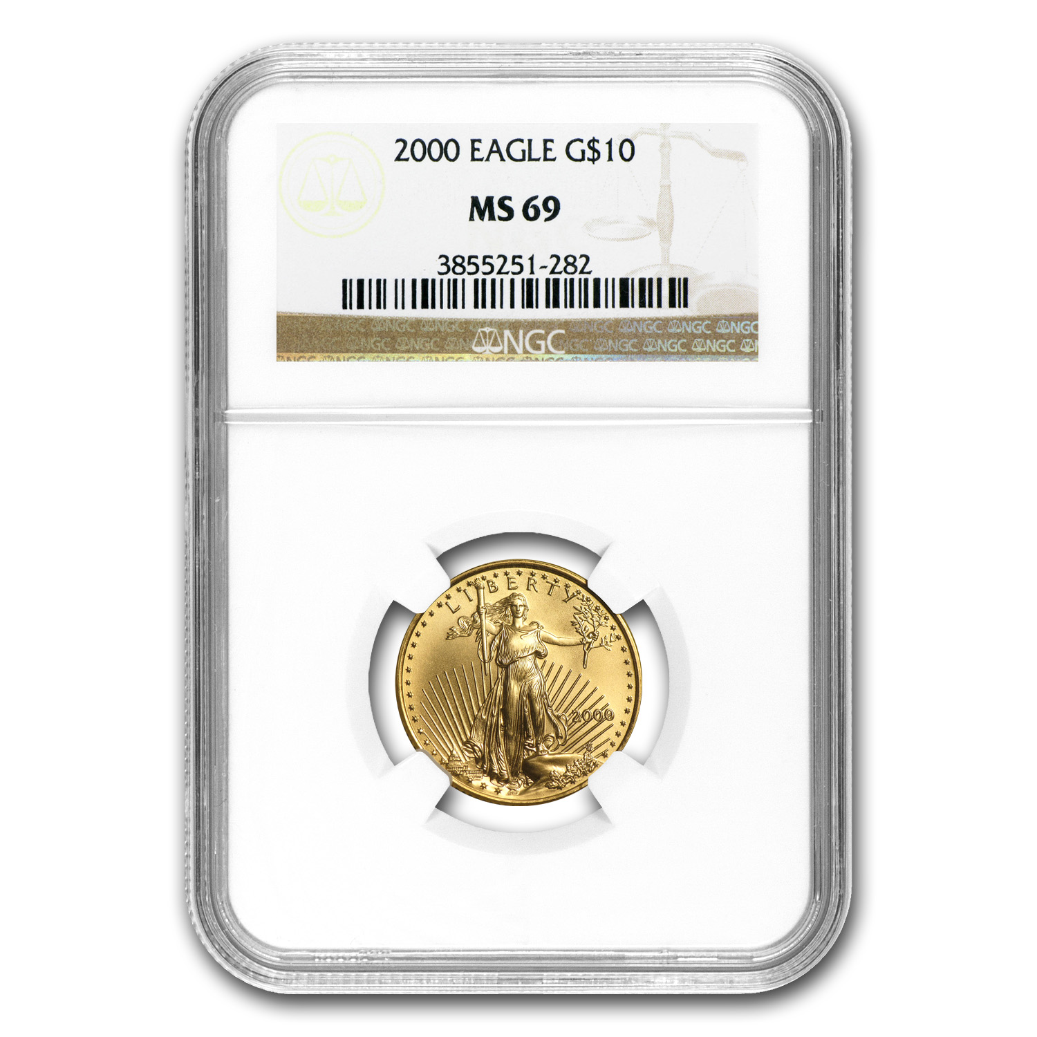 1/4 oz Gold American Eagle MS-69 PCGS/NGC (Random Year)
