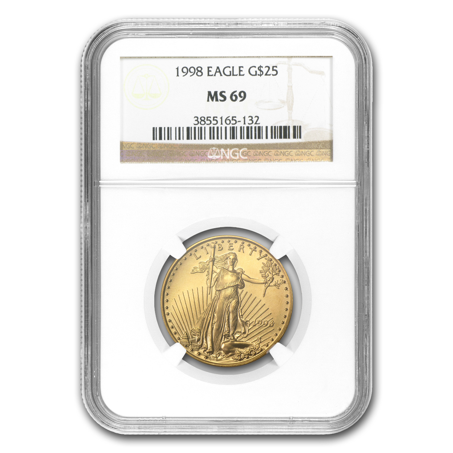 1/2 oz Gold American Eagle PCGS/NGC MS-69 (Random Year)