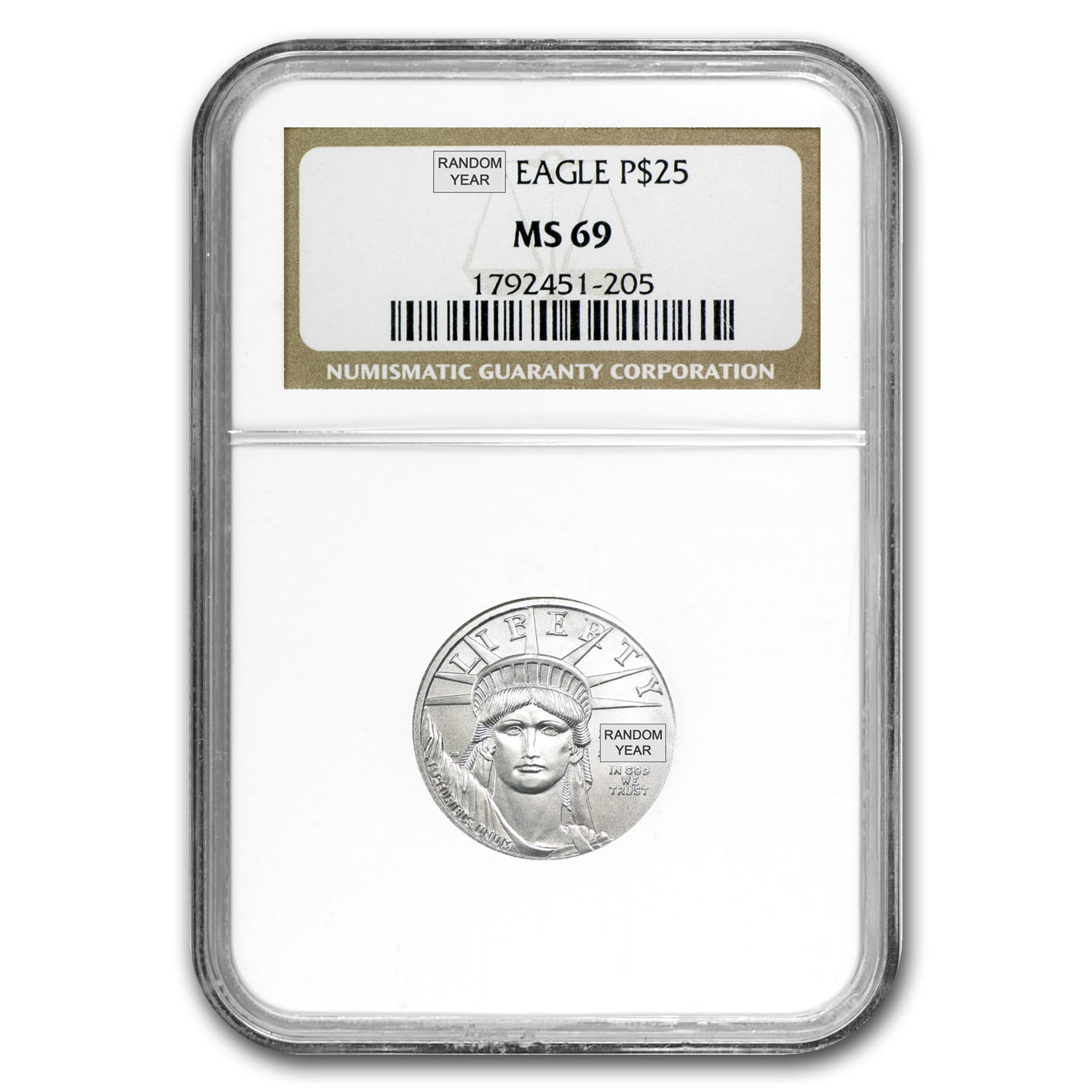 1/4 oz Platinum American Eagle NGC MS-69 (Random Year)