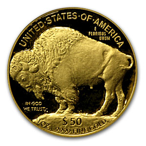 2007-W 1 oz Proof Gold Buffalo PR-70 PCGS DCAM (Black Diamond)