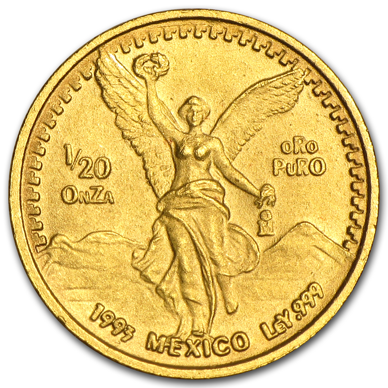 1993 Mexico 1/20 oz Gold Libertad BU