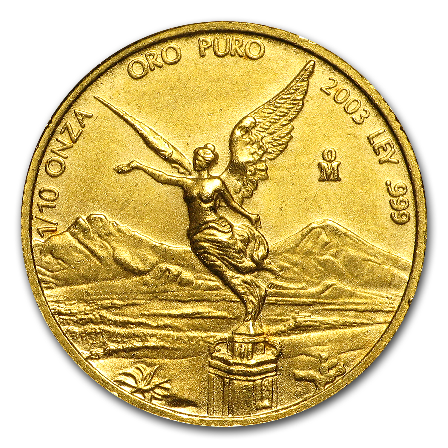 2003 Mexico 1/10 oz Gold Libertad BU