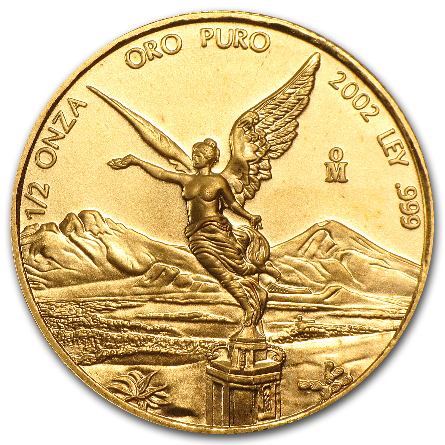 2002 Mexico 1/2 oz Gold Libertad BU