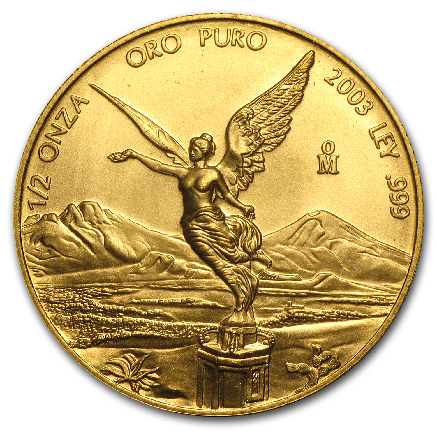 2003 Mexico 1/2 oz Gold Libertad BU