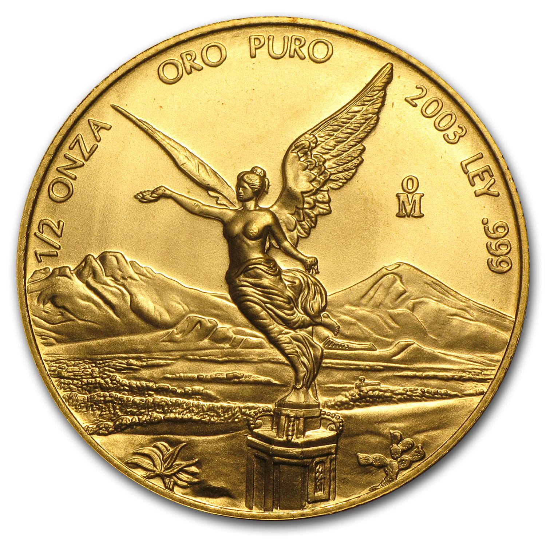 2003 Mexico 1 2 Oz Gold Libertad Bu Gold Bullion