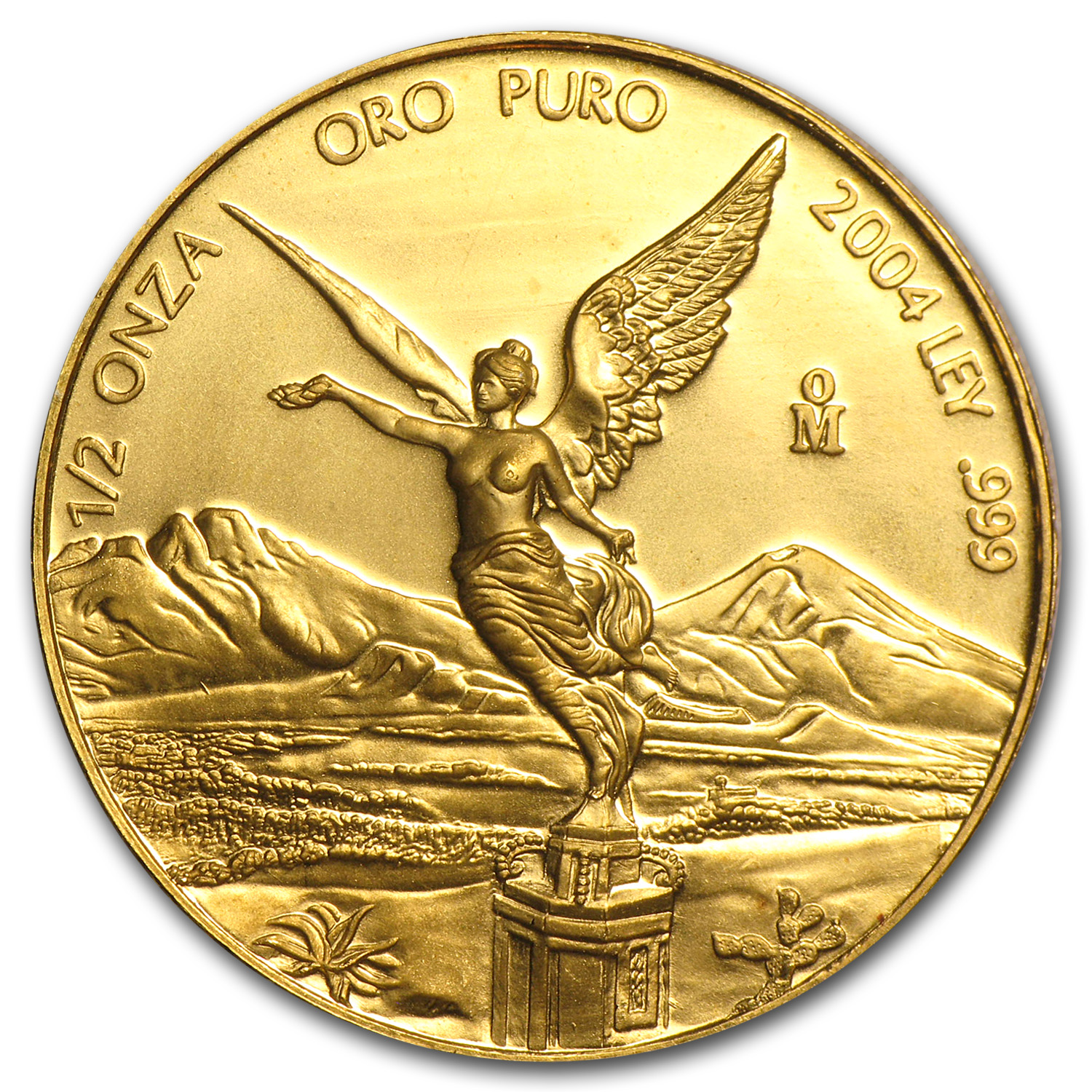 2004 Mexico 1/2 oz Gold Libertad BU