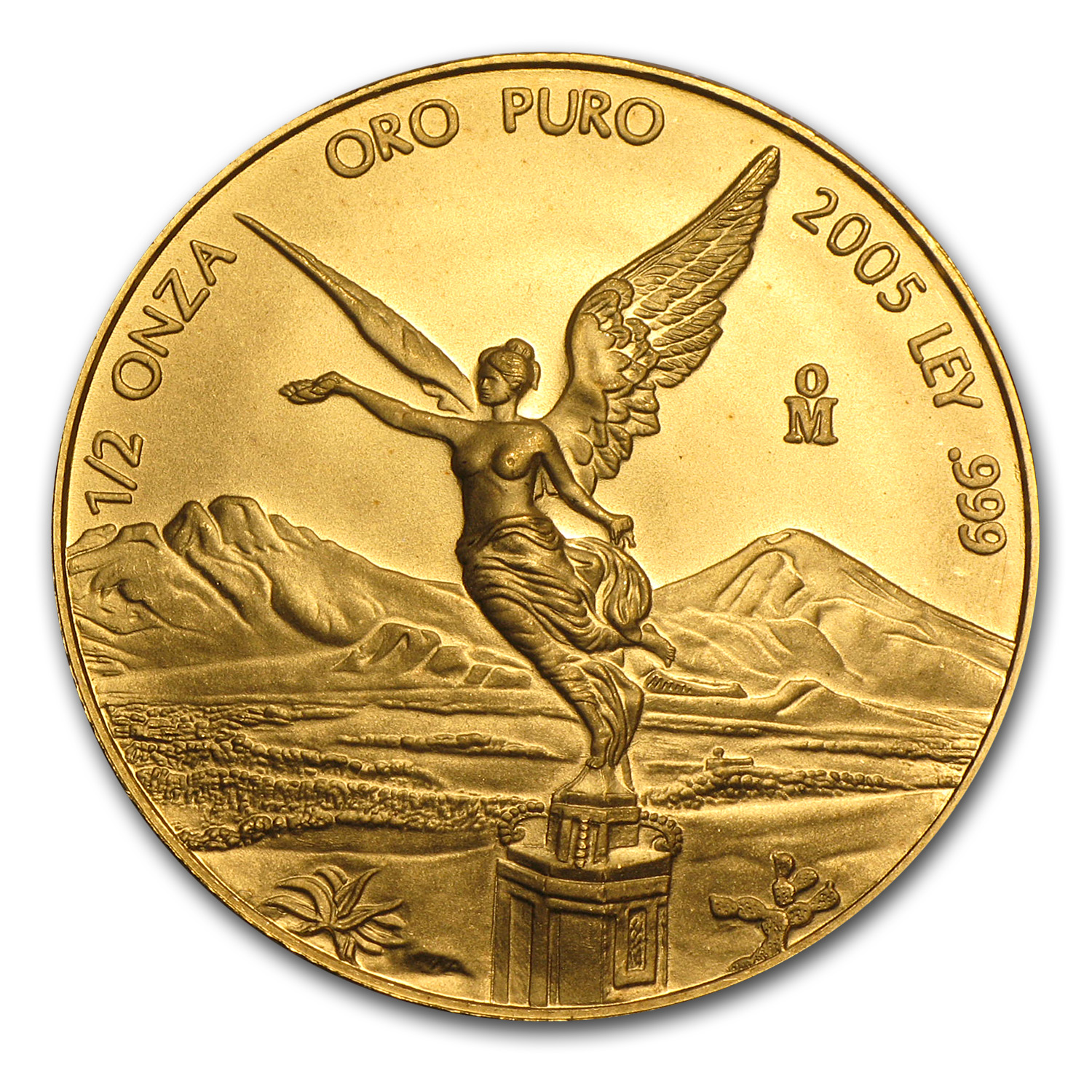 2005 Mexico 1/2 oz Gold Libertad BU