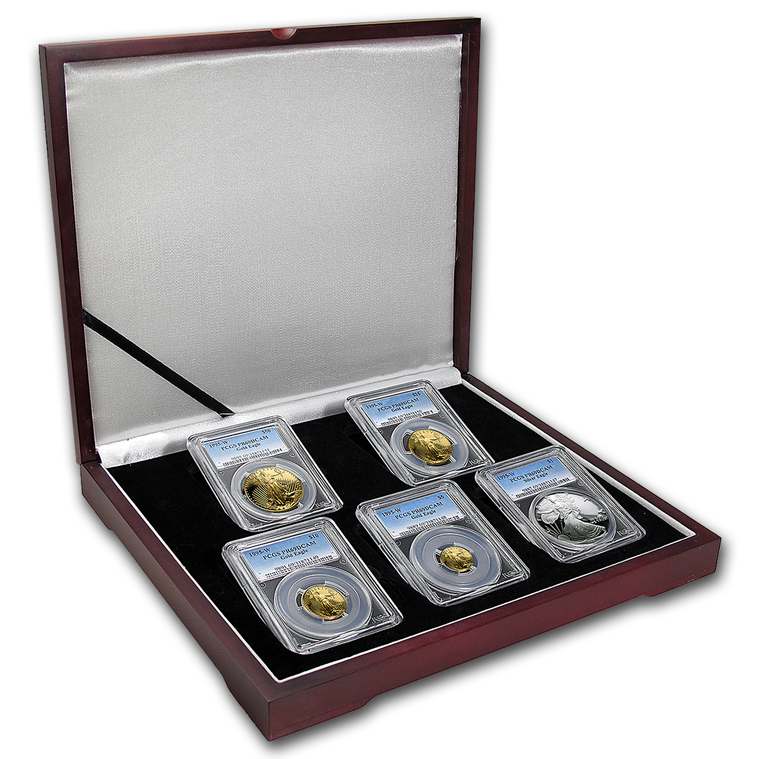 1995-W 5-Coin Proof Gold & Silver American Eagle Set PR-69 PCGS