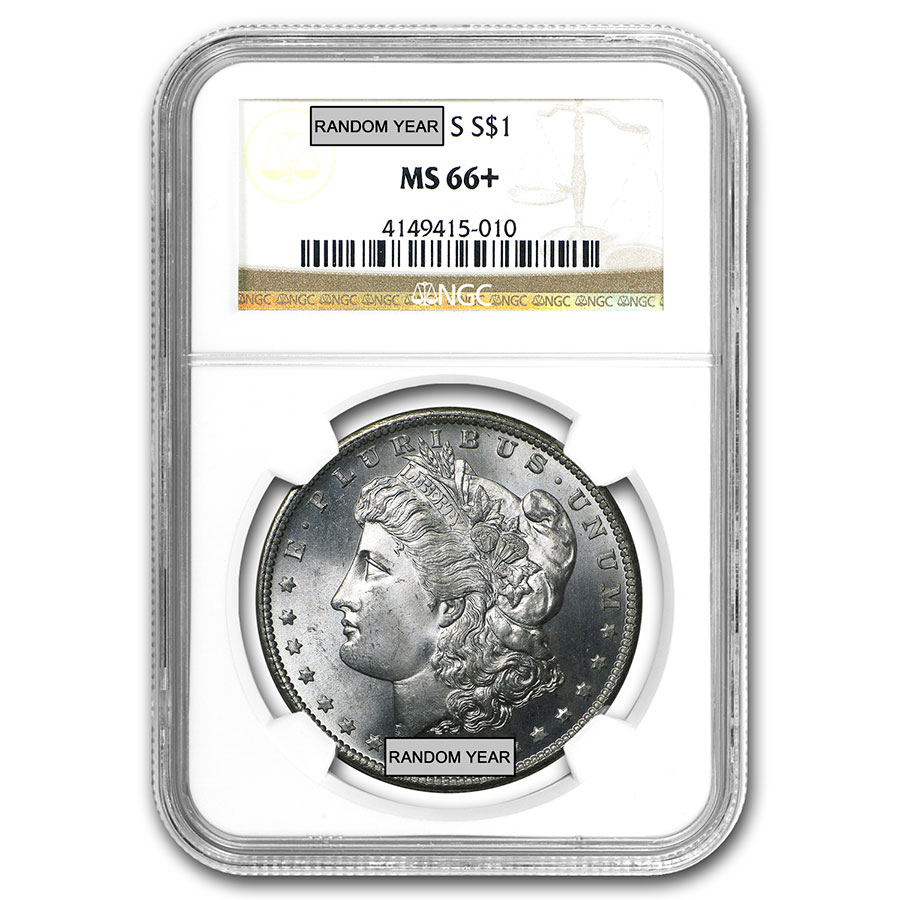 1878-1904 Morgan Dollars - MS-66+ NGC