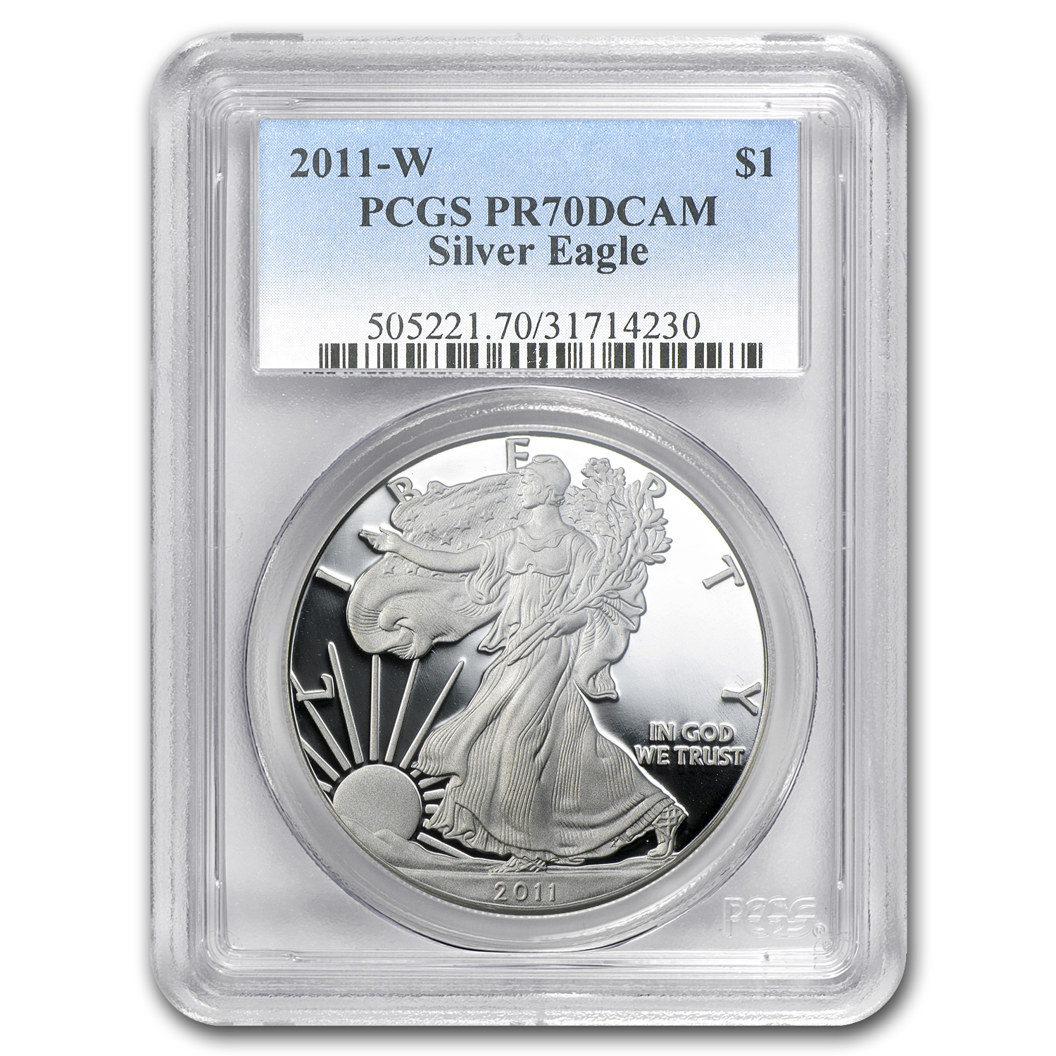2011-W Proof Silver American Eagle PR-70 PCGS