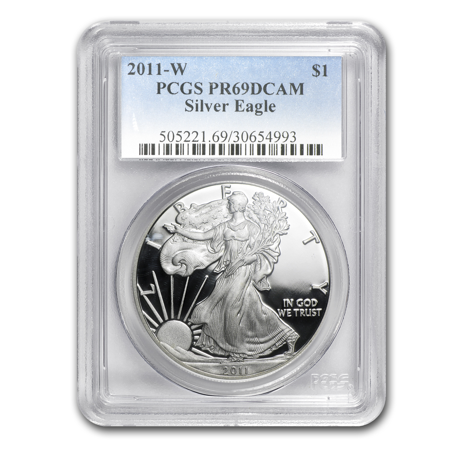2011-W Proof Silver American Eagle PR-69 PCGS