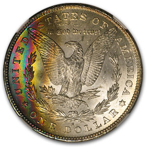 1879-S Morgan Dollar MS-66* Star NGC (Rainbow Rev)