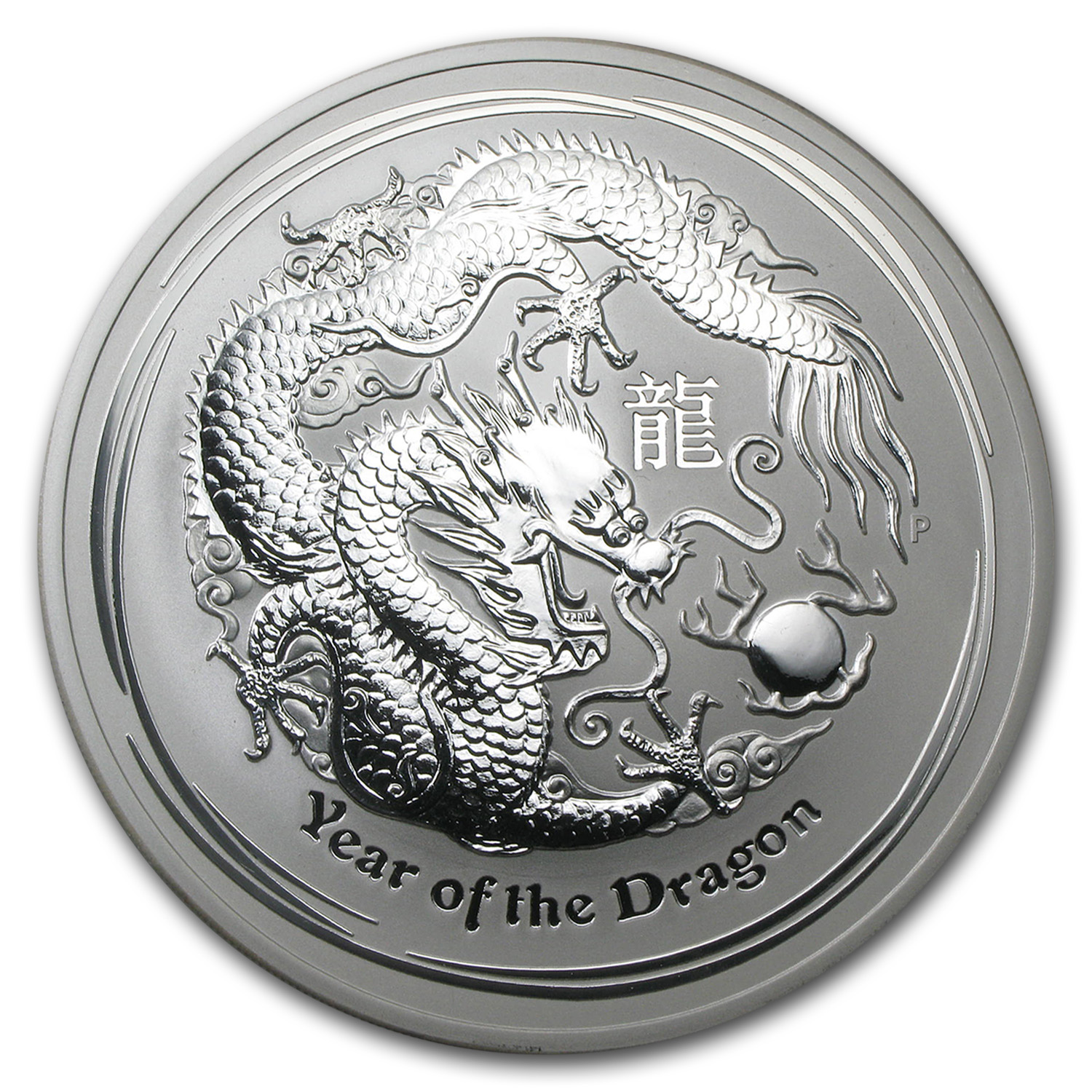 2012 Australia 10 oz Silver Year of the Dragon BU
