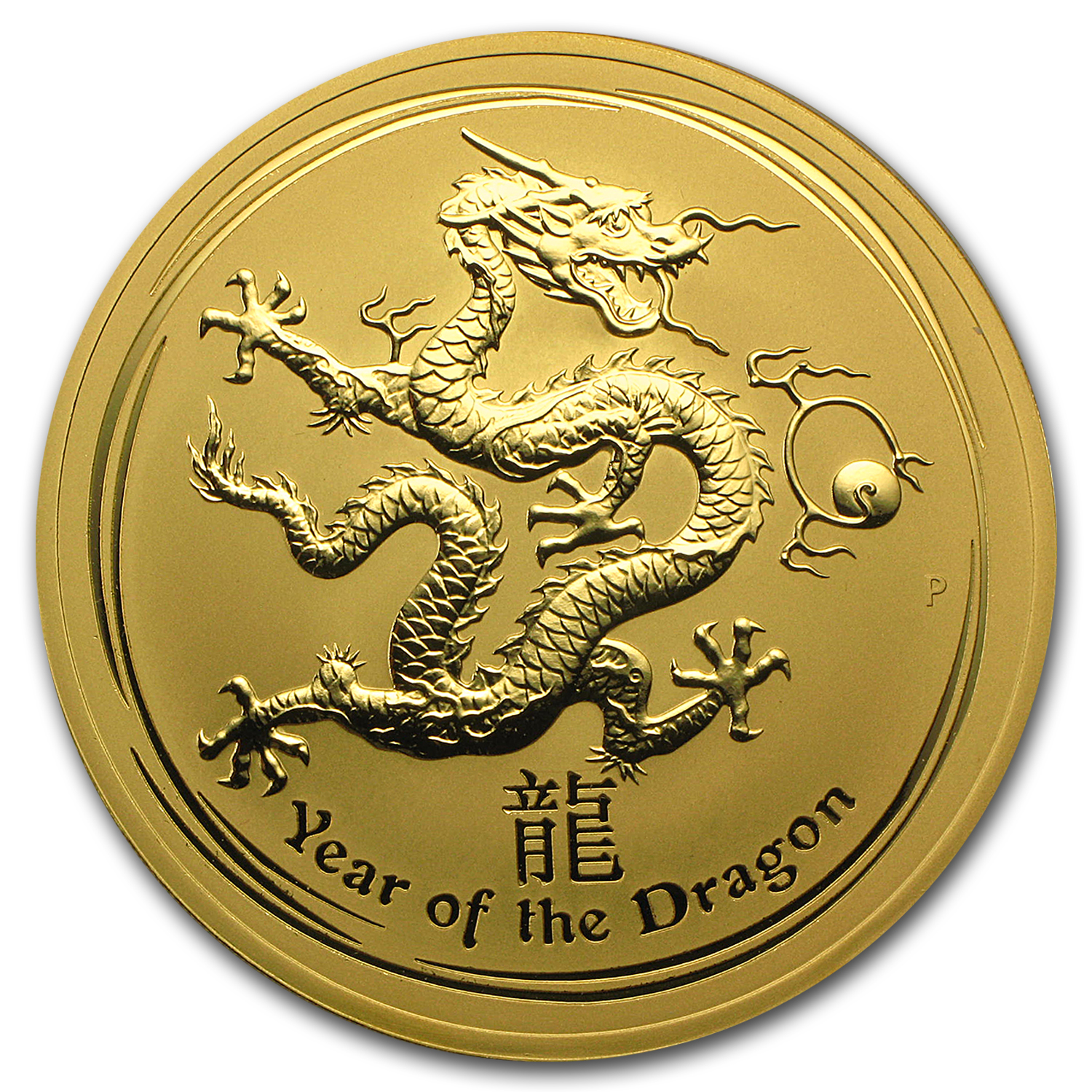 2012 10 oz Gold Lunar Year of the Dragon BU (Series II)