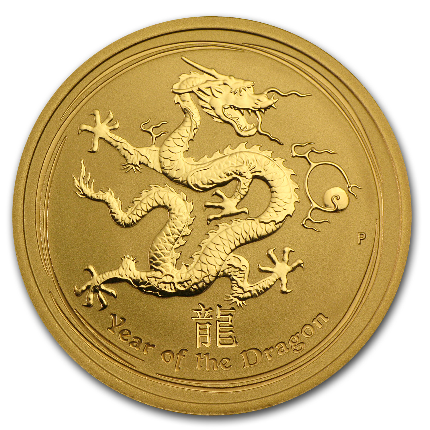 2012 Gold 1/2 oz Lunar Year of the Dragon BU (Series II)