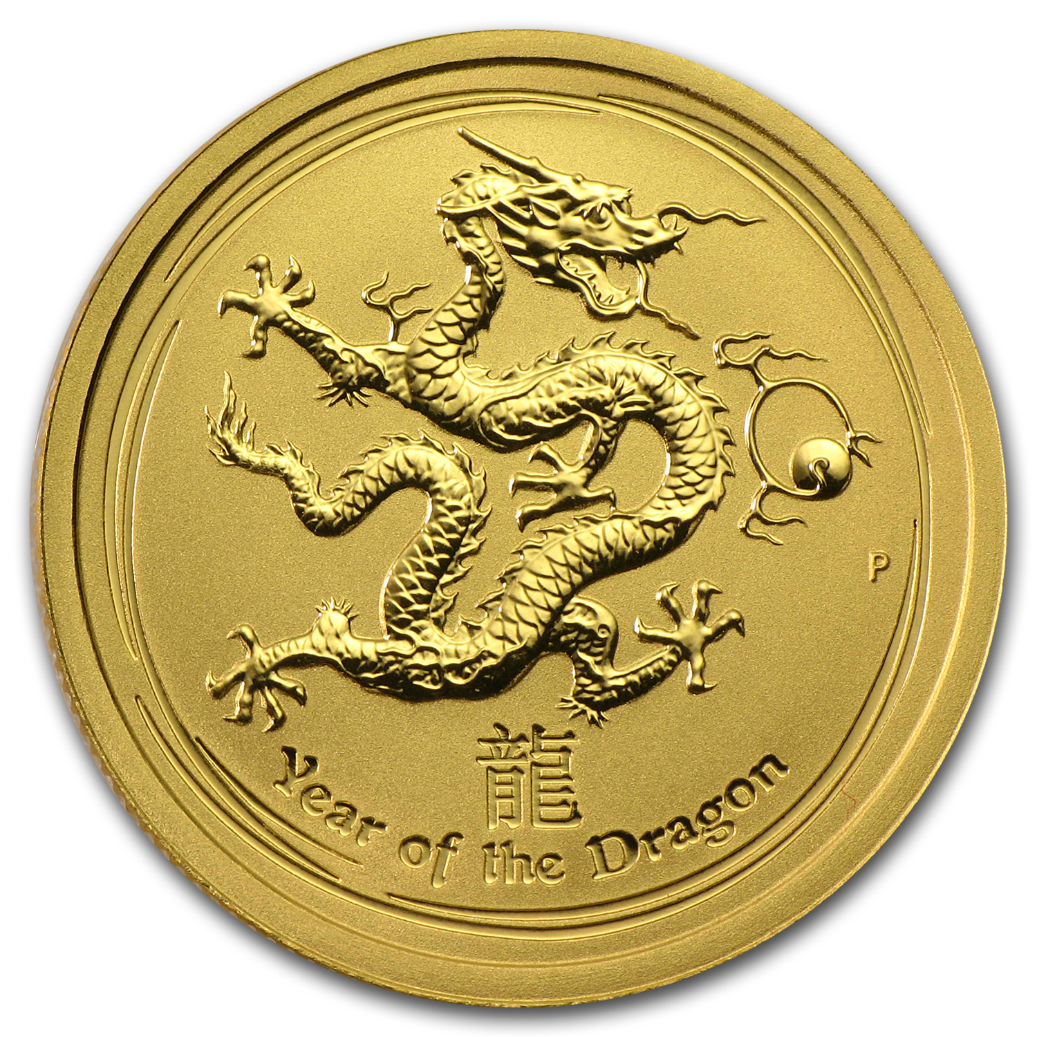 2012 1/4 oz Gold Lunar Year of the Dragon BU (Series II)