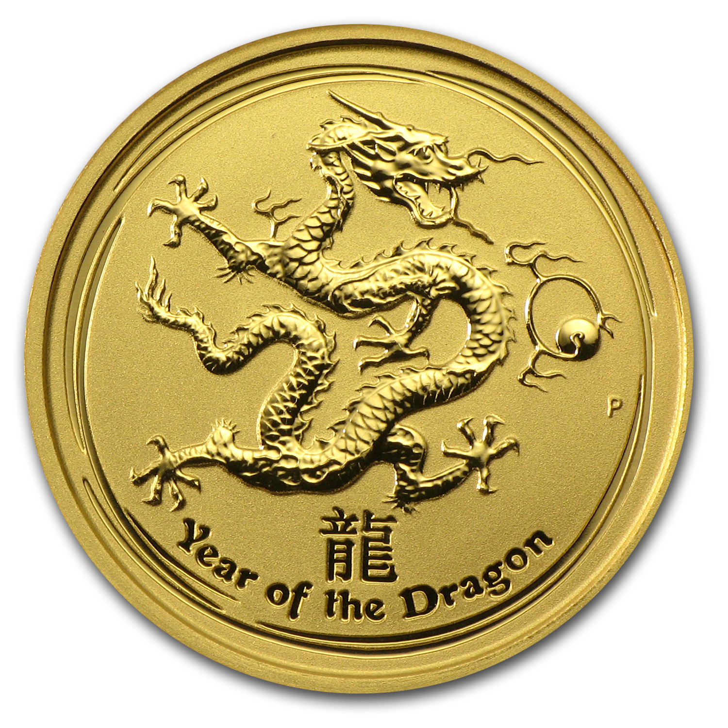 2012 1/10 oz Gold Lunar Year of the Dragon BU (Series II)