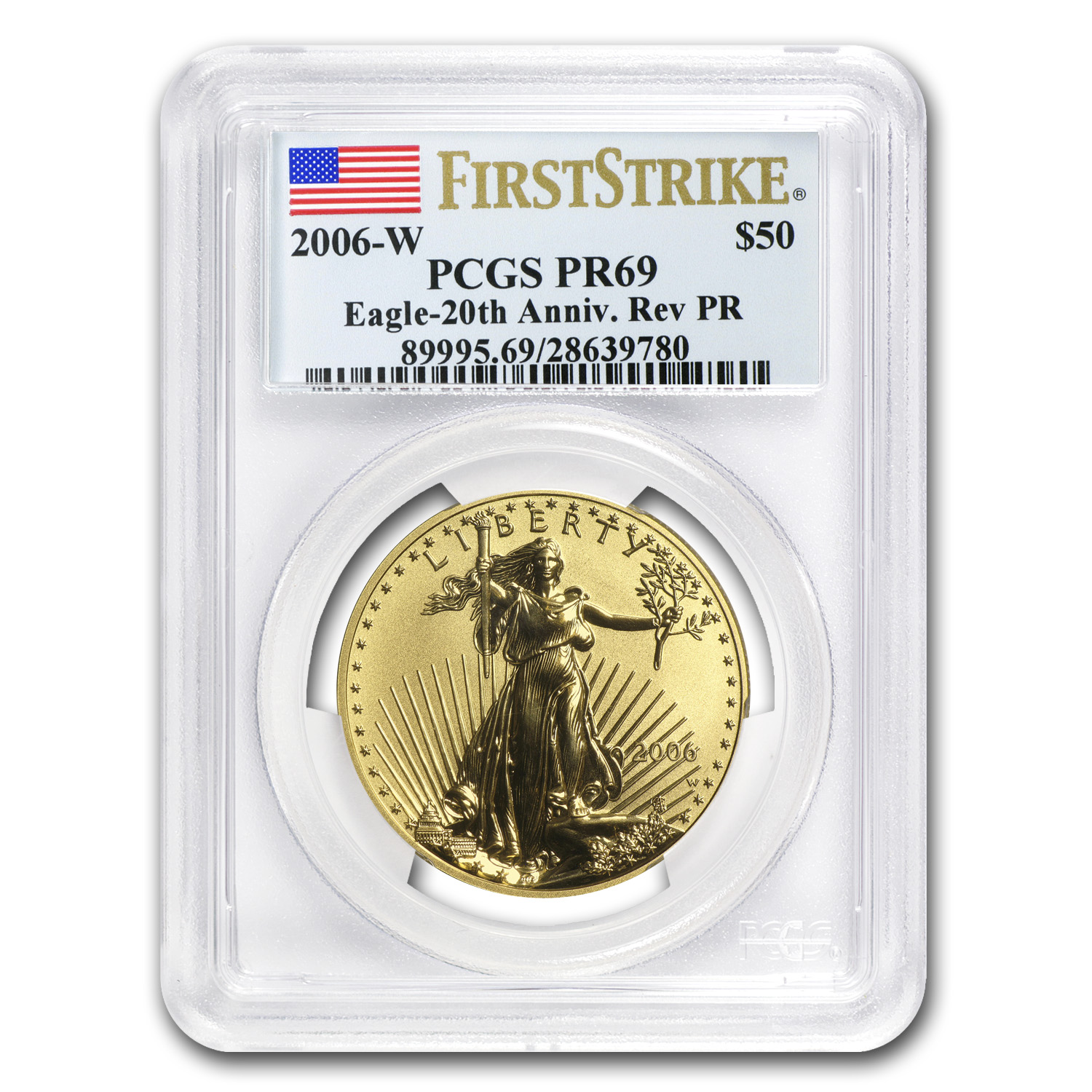 2006-W 1 oz Reverse Proof Gold American Eagle PR-69 PCGS (FS)