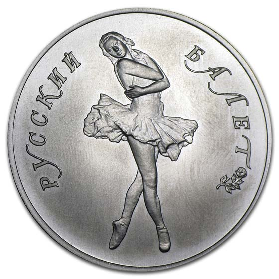 1 oz Russian Palladium Ballerina (Random Year)