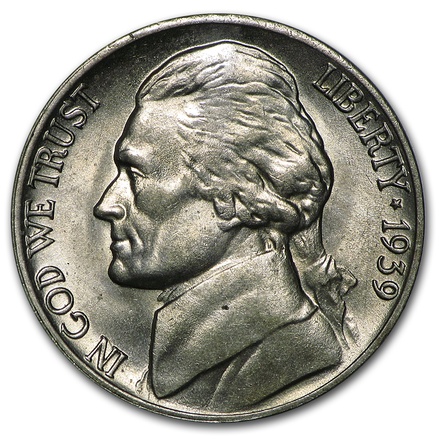 1939-D Jefferson Nickel BU