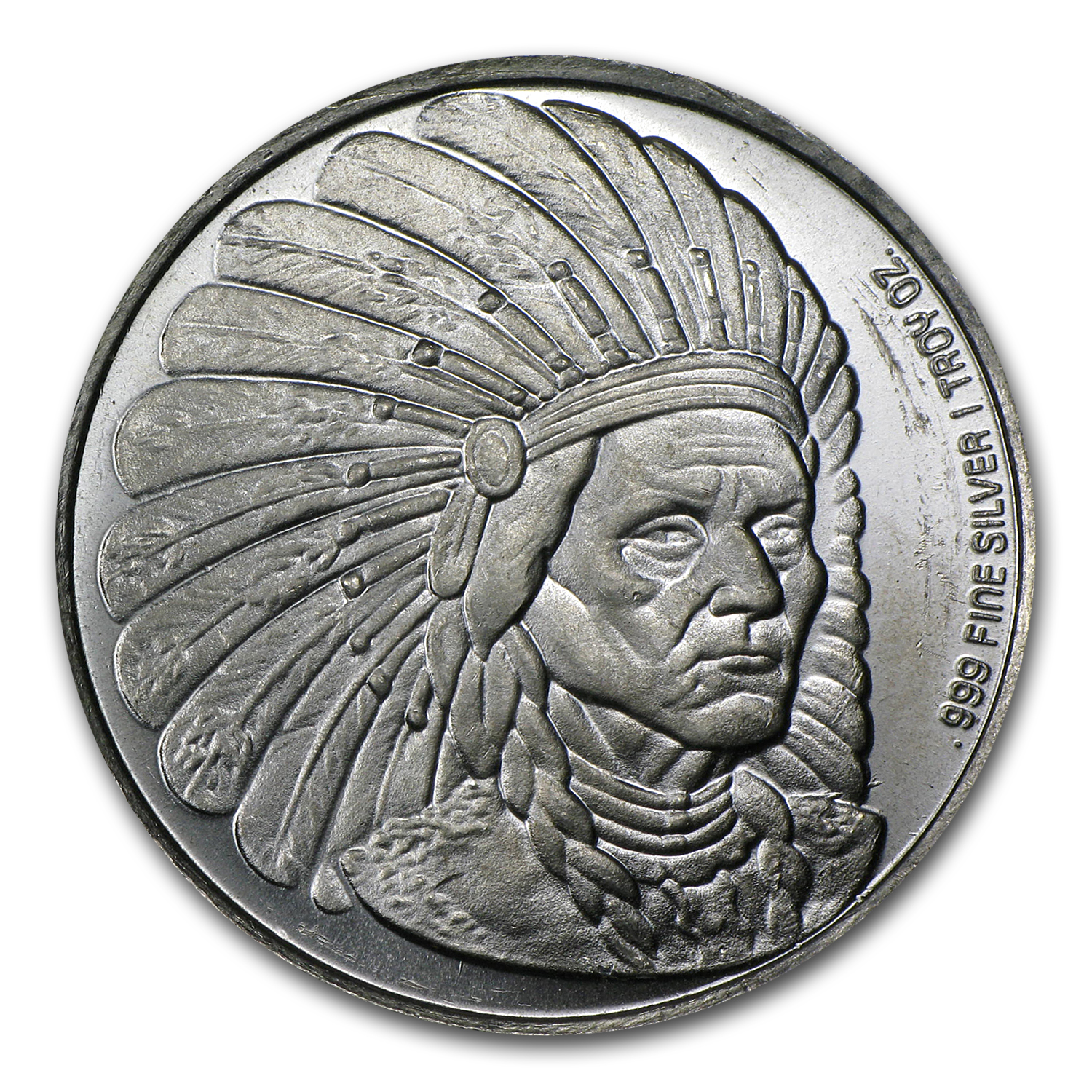 1 oz Silver Rounds - Native American Chief