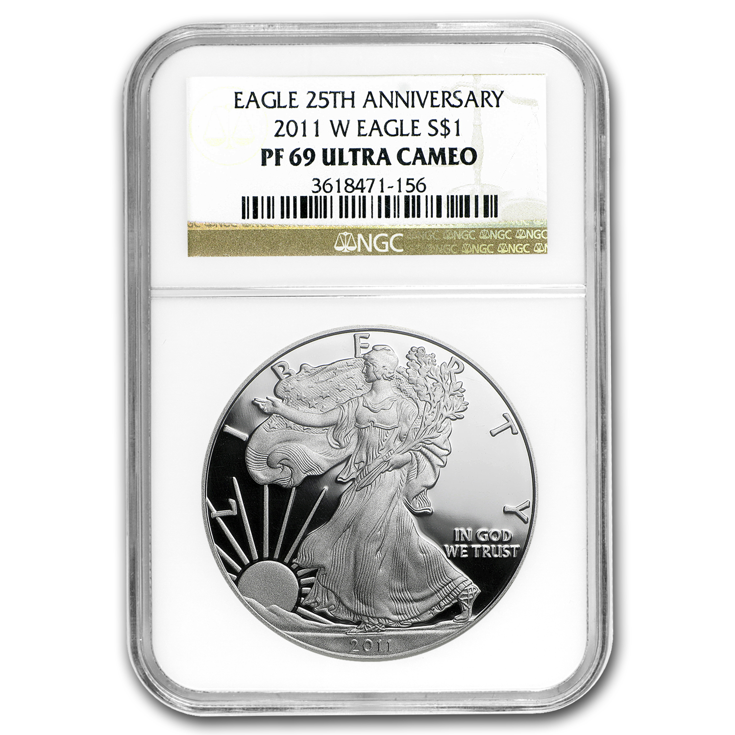 2011-W (Proof) Silver American Eagle PF-69 UCAM NGC 25th Anniv