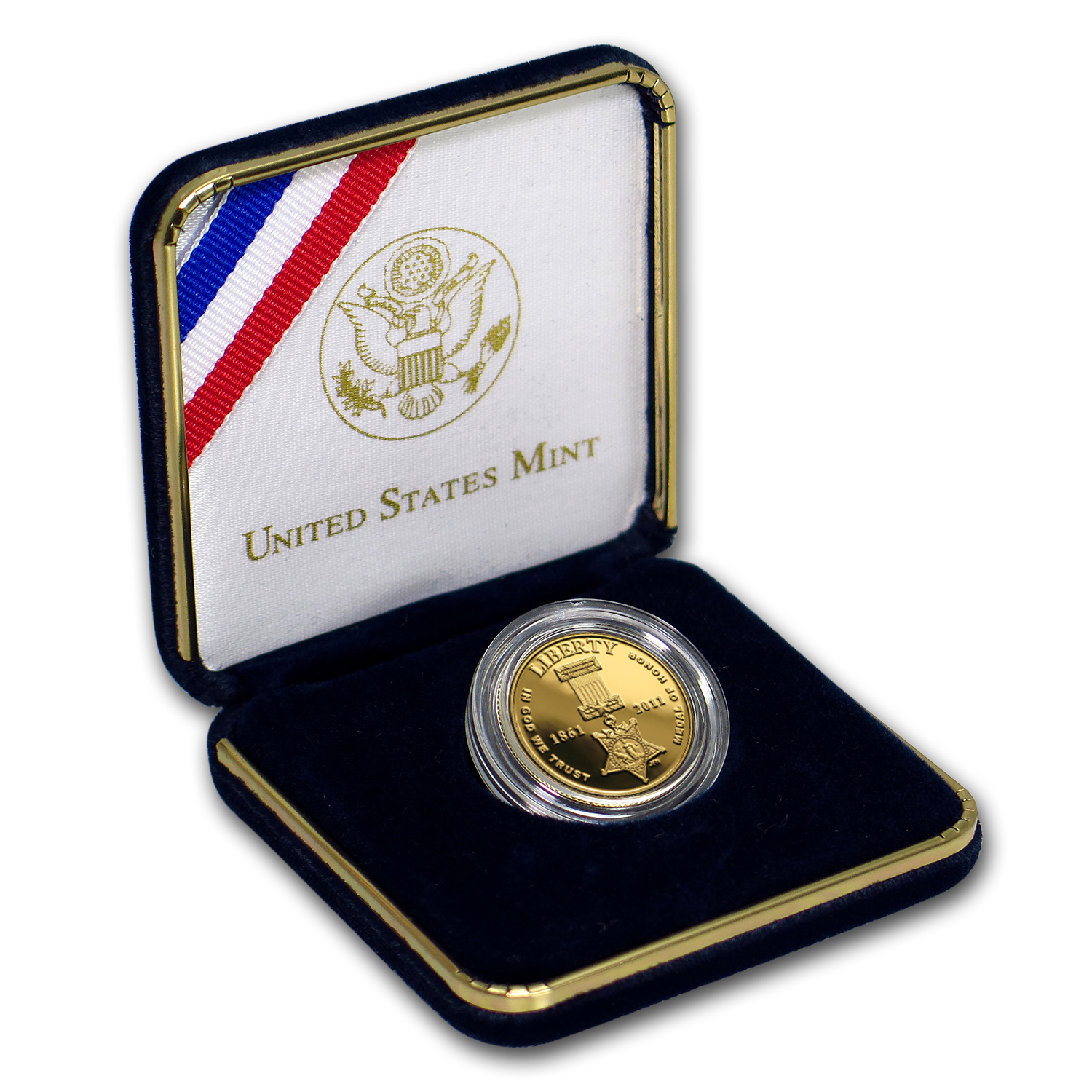 2011-W Gold $5 Commem Medal of Honor Proof (w/Box & COA)