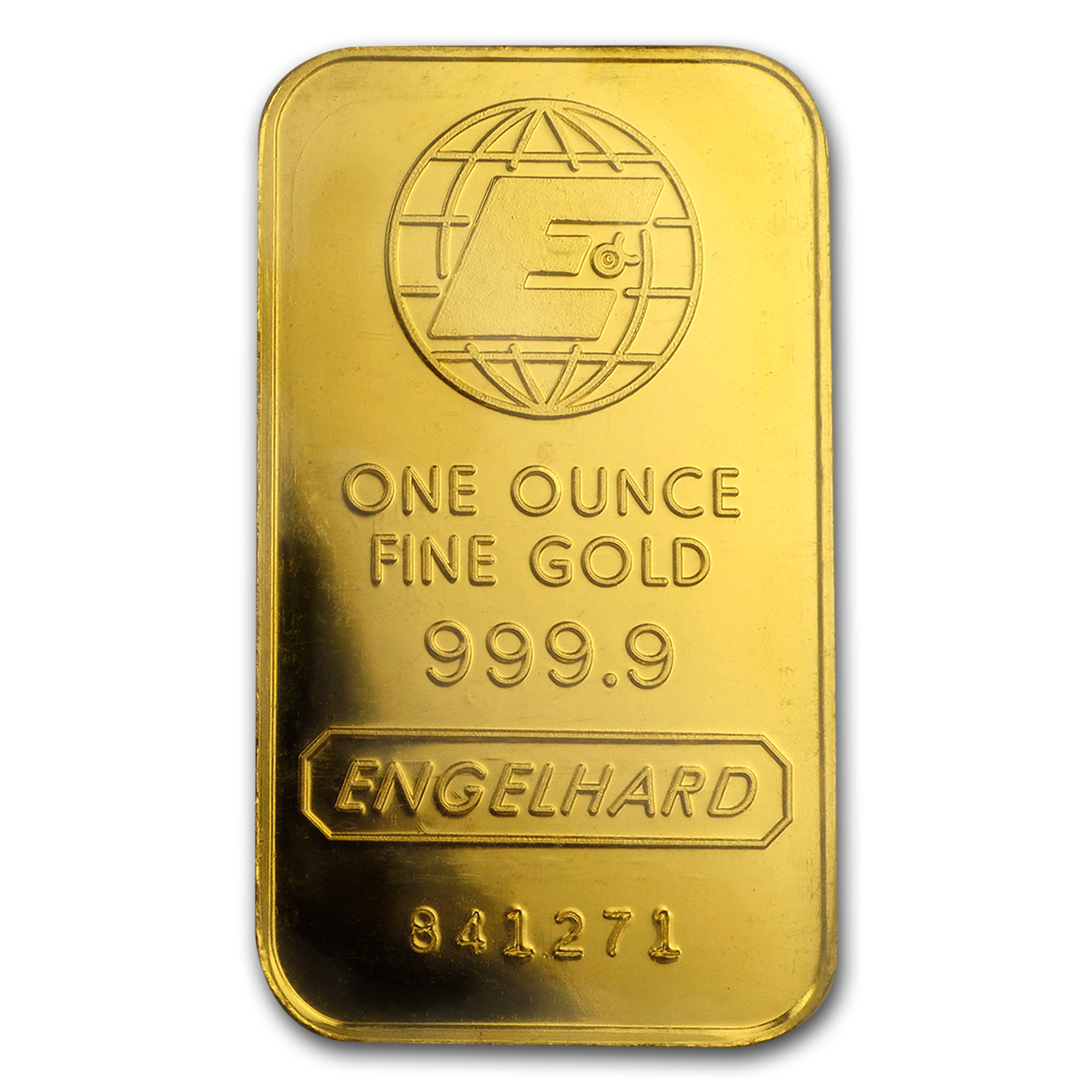 1 oz Gold Bar - Engelhard ('E' logo, In Assay Card)