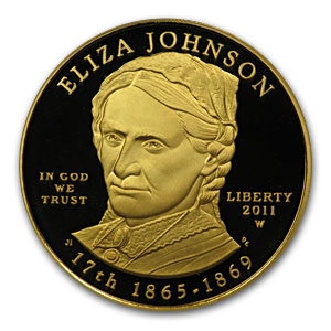 2011-W 1/2 oz Proof Gold Eliza Johnson PR-70 PCGS