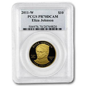 2011-W 1/2 oz Proof Gold Eliza Johnson PCGS PR-70 DCAM