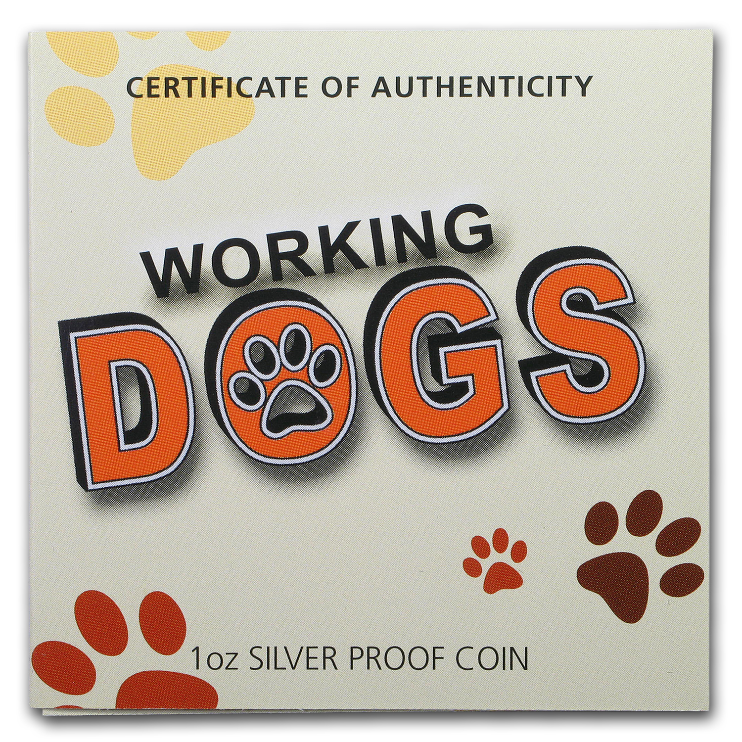 2011 1 oz Silver Working Dog Proof (German Shepherd)