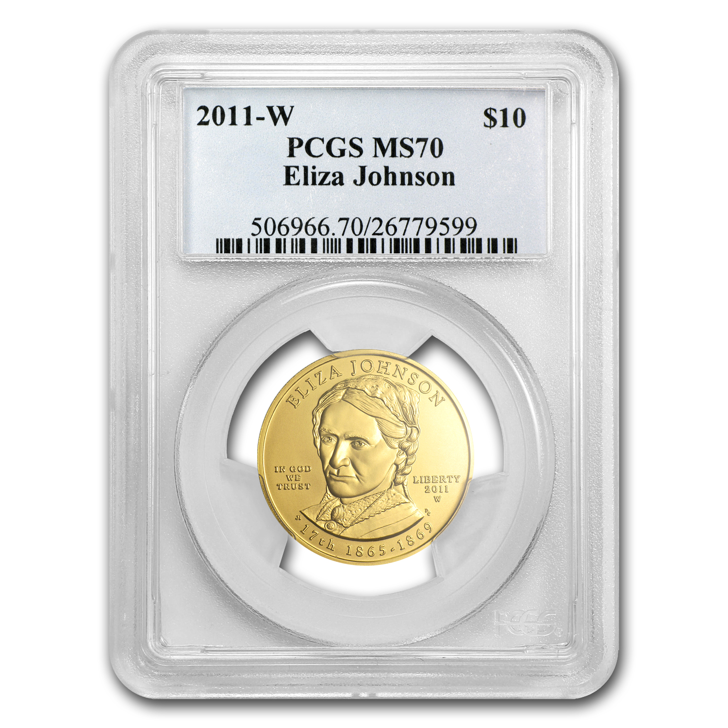2011-W 1/2 oz Gold Eliza Johnson MS-70 PCGS (First Strike)