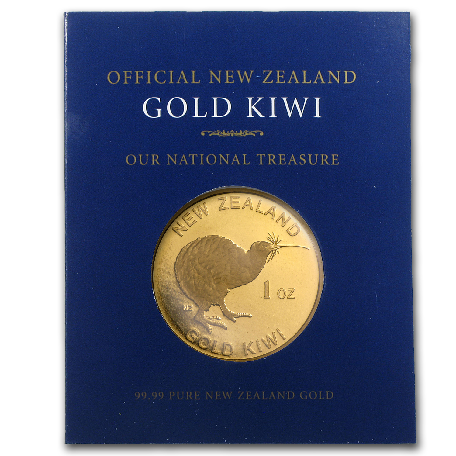 New Zealand 1 oz Gold Kiwi .9999 (In Blue Assay Card)
